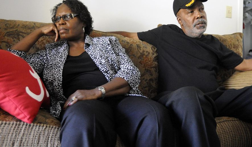 Sarah Collins Rudolph and her husband, George Rudolph, discuss their worries about the upcoming Donald Trump presidency in their home in Birmingham, Ala., on Wednesday, Nov. 9, 2016. Sarah Rudolph survived a church bombing that killed her sister and three other black girls in Alabama in 1963. (AP Photo/Jay Reeves)