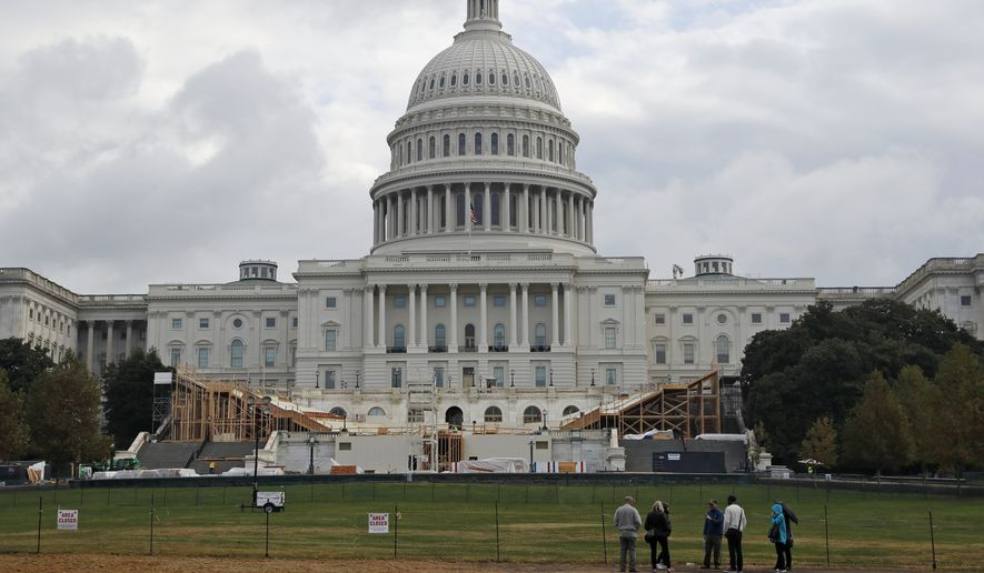 Preparations are progressing on Capitol Hill for the presidential inauguration of Donald Trump. (Associated Press)