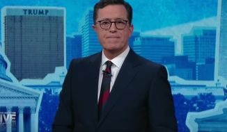 "Comedian Stephen Colbert  ended his Showtime special on the 2016 presidential election by telling the audience he drank ""too much of the poison."" The confession came early Nov. 9, 2016, as the realization set in that Donald Trump would be the next commander in chief. (YouTube, The Late Show)"