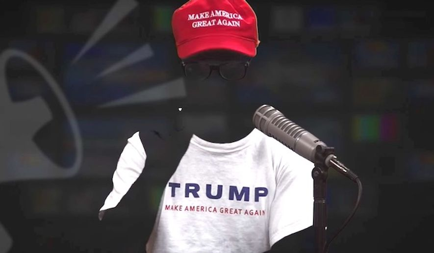 "Political commentator and comedian Gavin McInnes portrayed the ""invisible Trump voter"" for a YouTube vlog that generated nearly 100,000 views in less than 48 hours. (YouTube, Rebel Media)"