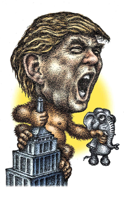 Illustration of Donald Trump by Kevin Kreneck/Tribune Content Agency