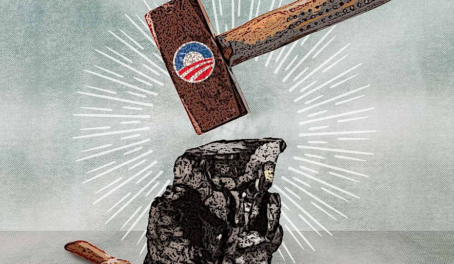 Obama's War on Coal Illustration by Greg Groesch/The Washington Times