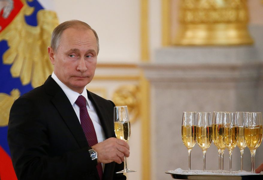 Russian President Vladimir Putin celebrated after the election of Donald Trump. (Associated Press)