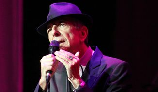 Leonard Cohen performs on the Old Ideas World Tour at The Fabulous Fox Theatre in Atlanta on March 22, 2013. (Associated Press)