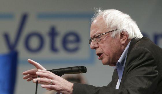 Sen. Bernie Sanders, I-Vt., speaks in Omaha, Neb., Friday, Nov. 4, 2016. (AP Photo/Nati Harnik, File)
