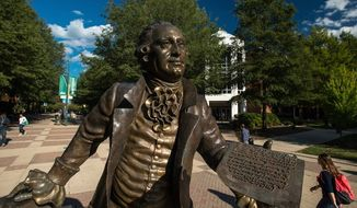 Students walk through George Mason University's campus in Fairfax, Virginia. (Facebook, George Mason University)