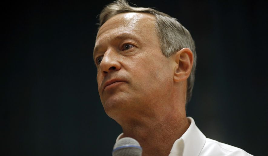 Former Maryland Gov. Martin O'Malley (Associated Press) **FILE**