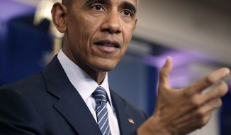 President Barack Obama gestures during a news conference in the Brady press briefing room at the White House in Washington, Monday, Nov. 14, 2016. (AP Photo/Andrew Harnik)