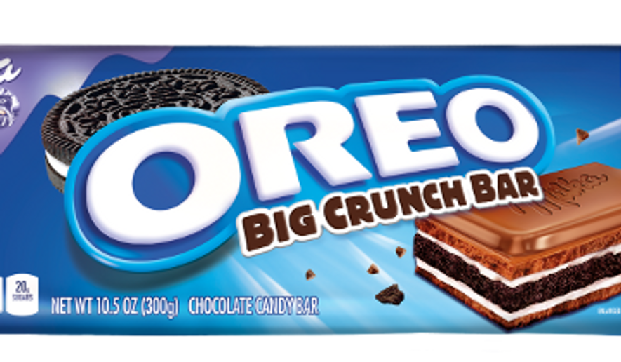 Milka OREO Big Crunch Bar. Image courtesy of Weber Shandwick, a public-relations firm representing the cookie maker.