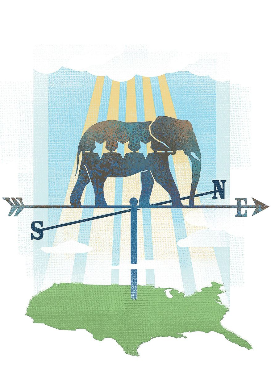 Illustration on the future of the nation by Linas Garsys/The Washington Times
