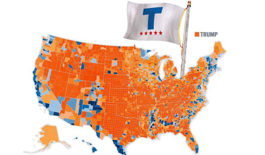 Trump Orange Illustration by Greg Groesch/The Washington Times