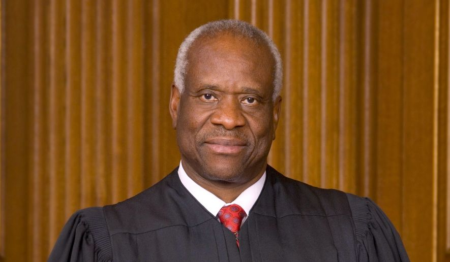 Associate Justice Clarence Thomas , shown in this file photo, has been selected to administer the oath of office to Vice President-elect Mike Pence on Jan. 20, 2017. (Supreme Court) **FILE**