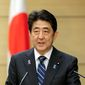 Japanese Prime Minister Shinzo Abe speaks during a joint press remarks with Malaysian Prime Minister Najib Razak following the bilateral summit talks at Abe's official residence in Tokyo Wednesday, Nov. 16, 2016. (Kimimasa Mayama/Pool Photo via AP) (Associated Press)
