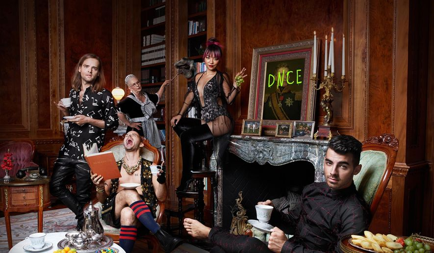 This cover image released by Republic Records shows the self-titled album for DNCE. (Republic Records via AP)