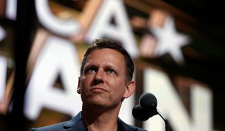 """Billionaire tech investor Peter Thiel's company Palantir was """"arbitrarily"""" barred from proposing an add-on to an Army suspect-tracking software in favor of purchasing an entirely new system, a judge has ruled, calling favoring an entirely new system wasteful. (Associated Press)"""