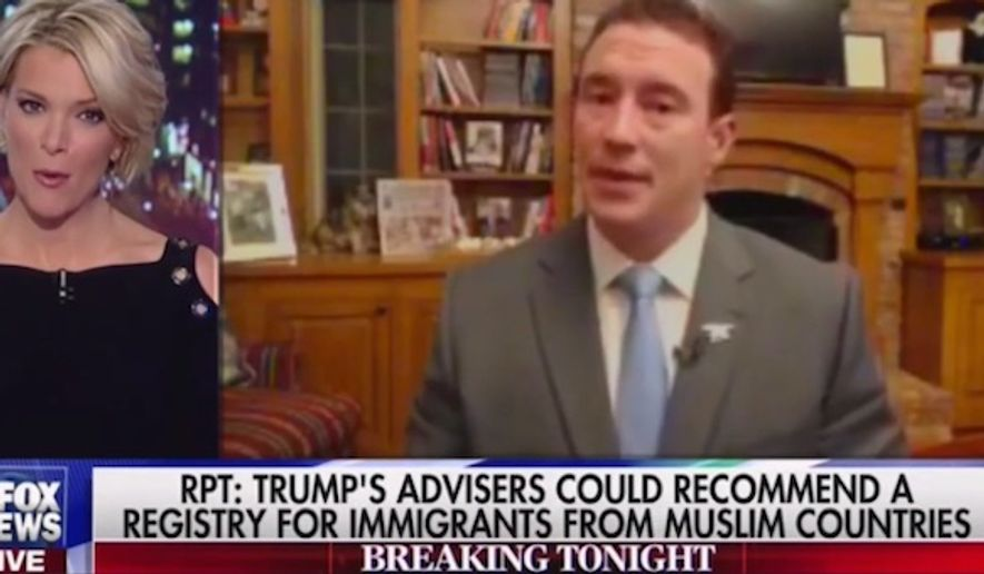 Fox News host Megyn Kelly squared off with Former Navy SEAL and Trump supporter Carl Higbie on Wednesday, Nov. 16, 2016. (Fox News screenshot) ** FILE **
