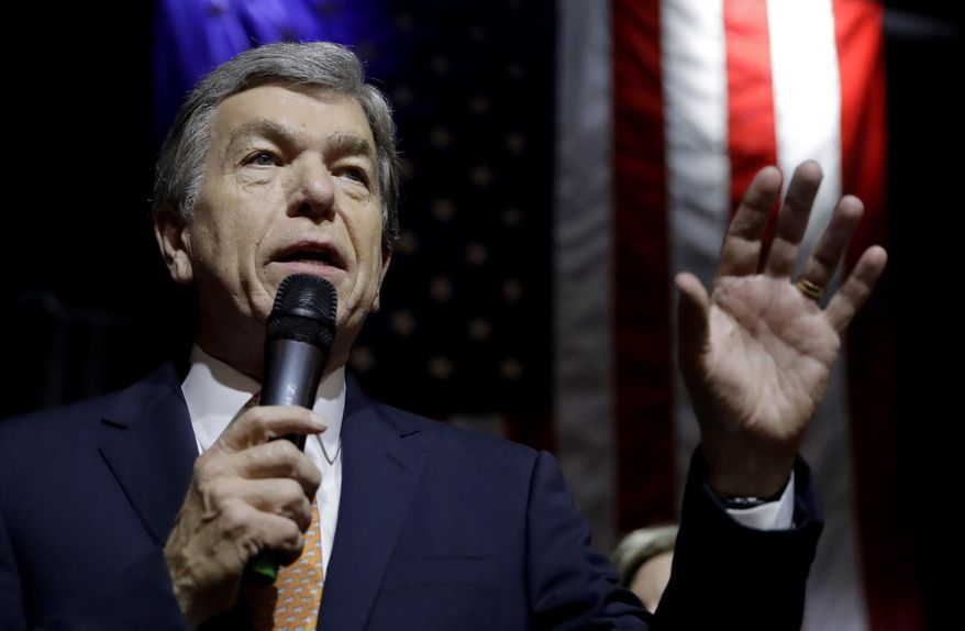 Sen. Roy Blunt, Missouri Republican, is shown in this undated file photo. (Associated Press)