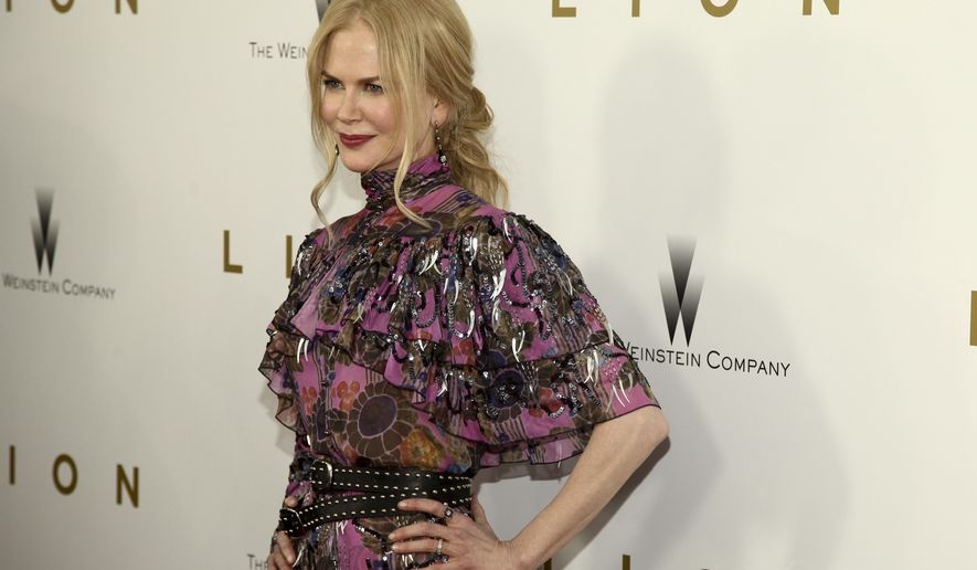 "Nicole Kidman attends the premiere of ""Lion"" at the Museum of Modern Art on Wednesday, Nov. 16, 2016, in New York. (Photo by Andy Kropa/Invision/AP)"