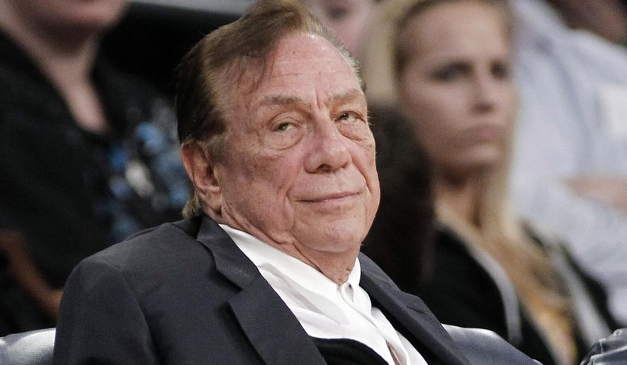 FILE - In this Dec. 19, 2011 file photo, Los Angeles Clippers owner Donald Sterling watches the Clippers play the Los Angeles Lakers during an NBA preseason basketball game in Los Angeles. The former Clippers owner has dropped a lawsuit that claimed the NBA, his wife and others conspired to illegally sell the team for $2 billion. Sterling's lawyer, Bobby Samini, says he filed a request Friday, Nov. 18, 2016 to have the federal appeals case dismissed. (AP Photo/Danny Moloshok, File)