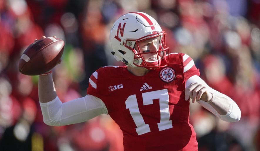 Nebraska quarterback Ryker Fyfe (17) throws during the first half of an NCAA college football game against Maryland in Lincoln, Neb., Saturday, Nov. 19, 2016. (AP Photo/Nati Harnik)
