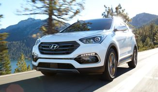 If you think the 2017 Hyundai Santa Fe Sport is just another part of the Hyundai Santa Fe family, you'd be right and wrong. This one stands on its own in the small crossover SUV market versus the larger Santa Fe, which carries more passengers and has different personality traits. (Photo courtesy of Hyundai).