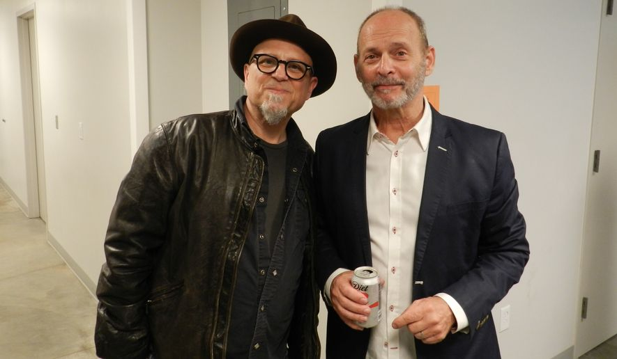 Bobcat Goldthwait (left) and Wayne Kramer.  (Marc Goldsmith)