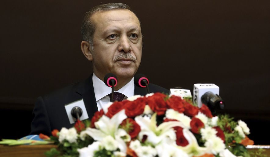 """When asked for his assessment on the current relationship between Ankara and the United States, Turkish President Recep Tayyip Erdogan replied: """"I am disillusioned."""" (Associated Press)"""