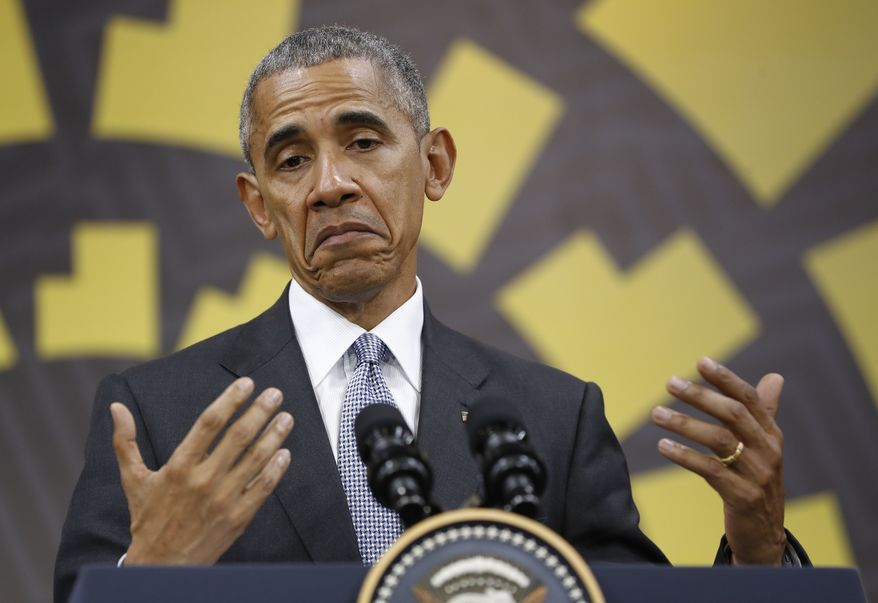 """""""If I think it's necessary or helpful for me to defend those ideals, then I'll examine it when it comes,"""" President Obama said at a press conference in Lima, Peru. (Associated Press)"""