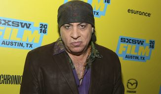 In this March 11, 2016, file photo, Steven Van Zandt is seen during the South by Southwest Film Festival in Austin, Texas. Van Zandt criticized the cast of Hamilton's message to Vice President elect Mike Pence on Saturday, Nov. 19, 2016, saying on Twitter it was the most respectful, benign form of bullying ever. (Photo by Jack Plunkett/Invision/AP, File)