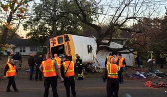 Chattanooga police say an elementary school bus crash has sent 23 people to area hospitals. (Chattanooga Fire Department)