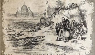 American River Ganges, Thomas Nast. Harpers Weekly September 30, 1871.