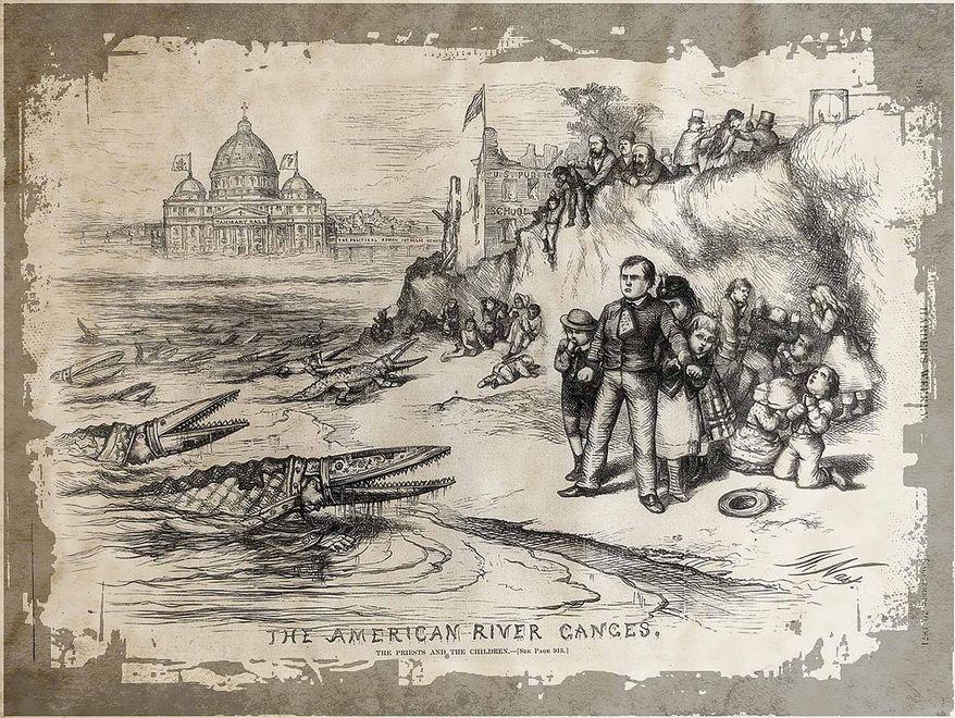 American River Ganges, Thomas Nast. Harpers Weekly September 30, 1871.