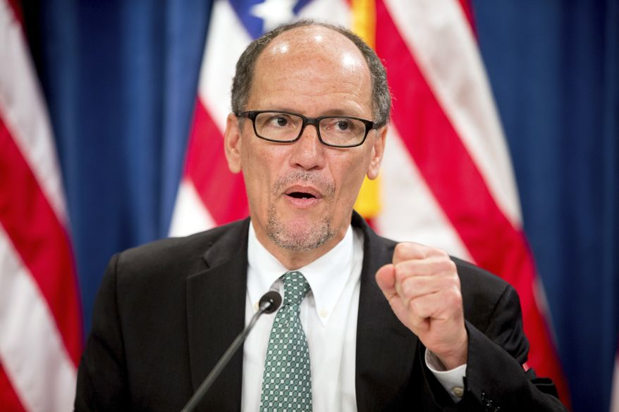 Labor Secretary Thomas Perez. (AP Photo/Andrew Harnik, File)