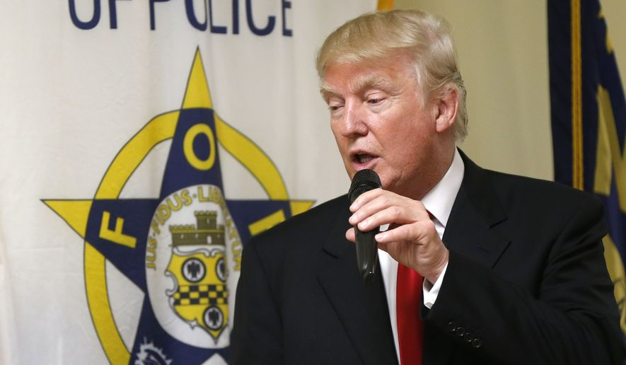 President-elect Donald Trump's pledge to block all federal funding to jurisdictions that shield illegal immigrants creates a conundrum for the National Fraternal Order of Police. (Associated Press)
