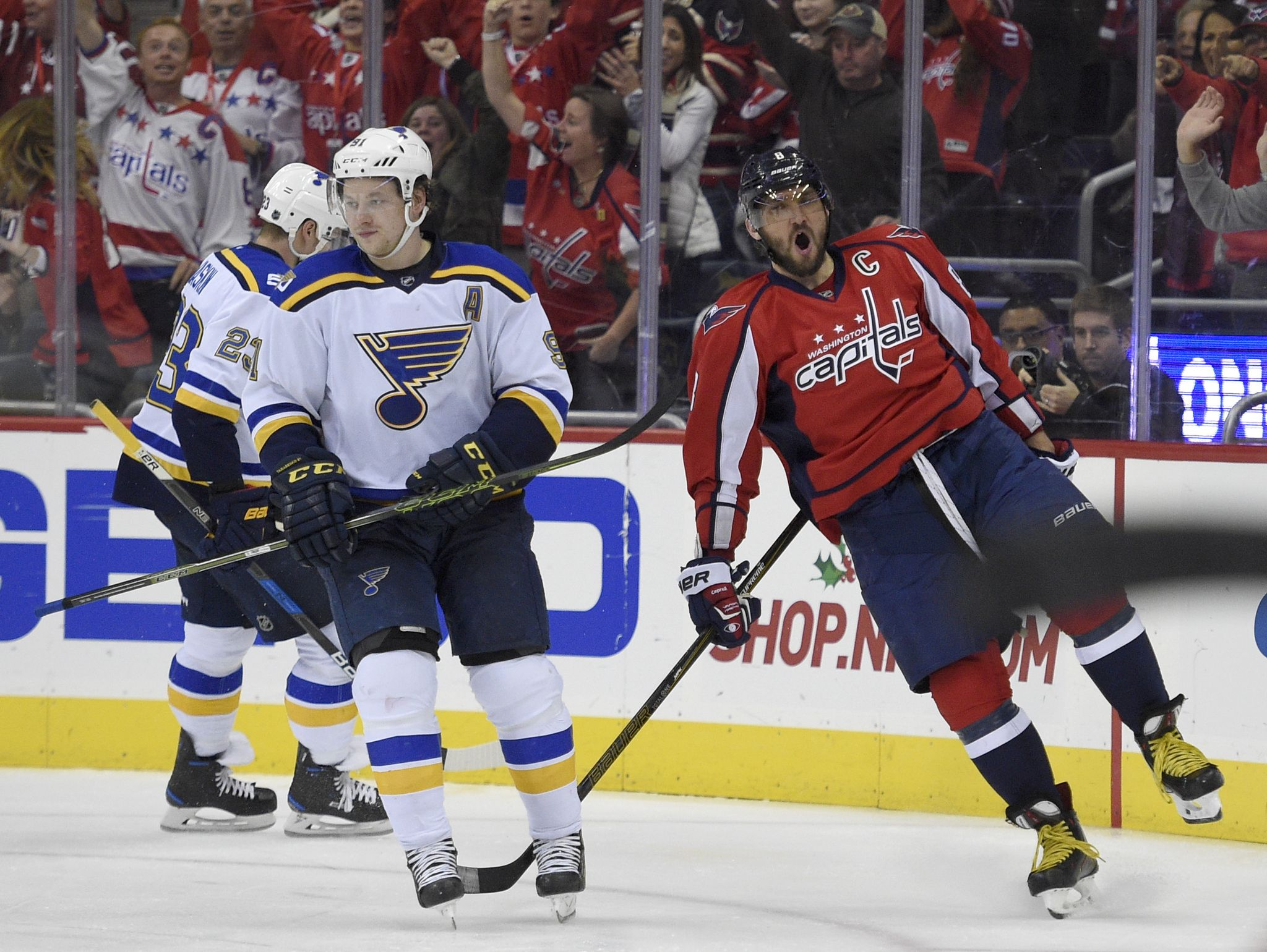 018ec1e36ce Alex Ovechkin s 16th career hat trick sends Capitals to win over Blues -  Washington Times