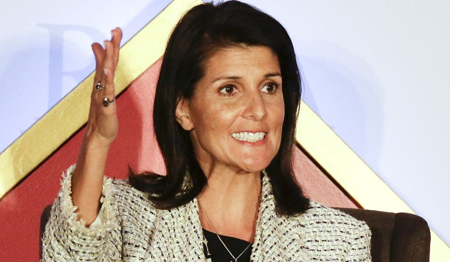 President-elect Donald Trump nominated Indian-American South Carolina Gov. Nikki Haley for ambassador to the U.N. (Associated Press)