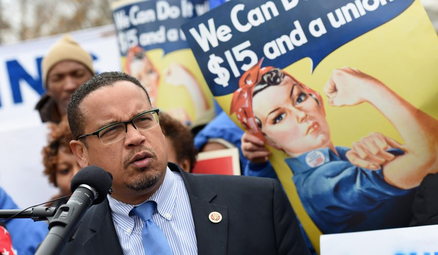 Rep. Keith Ellison, the Minnesota Democrat vying to become the new Democratic National Committee chairman, says his party lost the 2016 presidential election by failing to connect with working-class voters. He says the party must refocus for the future. (Associated Press)