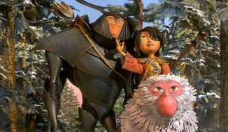 "A samurai beetle, a magical boy and a monkey search for a powerful set of armor in the stop motion film ""Kubo and the Two Strings,"" available on Blu-ray from Universal Studios Home Entertainment."