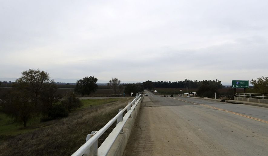 A section of road along County Road 17 from the Interstate 5 overpass in Redding, Calif., shown on Friday, Nov. 25, 2016, is where Sherry Papini, a 34-year-old wife and mother was found on Thanksgiving Day. Authorities are looking for two armed women they believe abducted Papini on Nov. 2.  (Andreas Fuhrmann/Record Searchlight via AP)