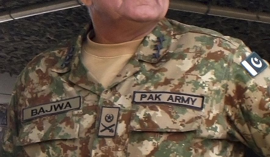 In this Wednesday, Nov. 16, 2016 photo, Pakistan's army senior officer Lt. Gen. Qamar Javed Bajwa attends a military exercise in Khairpur Tamiwali, Pakistan. The spokesman for Pakistan's prime minister has announced on Saturday, Nov. 26, 2016, that Bajwa has been appointed as new army chief and Gen Zubair Mahmood Hayat as chairman Joint Chiefs of Staff Committee. (AP Photo/Muhammad Yousuf)