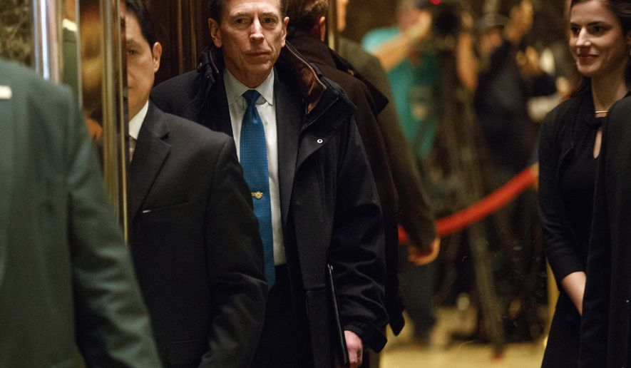 Former CIA director retired Gen. David Petraeus gets on an elevator after arriving at Trump Tower for a meeting with Presiden-elect Donald Trump, Monday, Nov. 28, 2016, in New York. (AP Photo/ Evan Vucci)