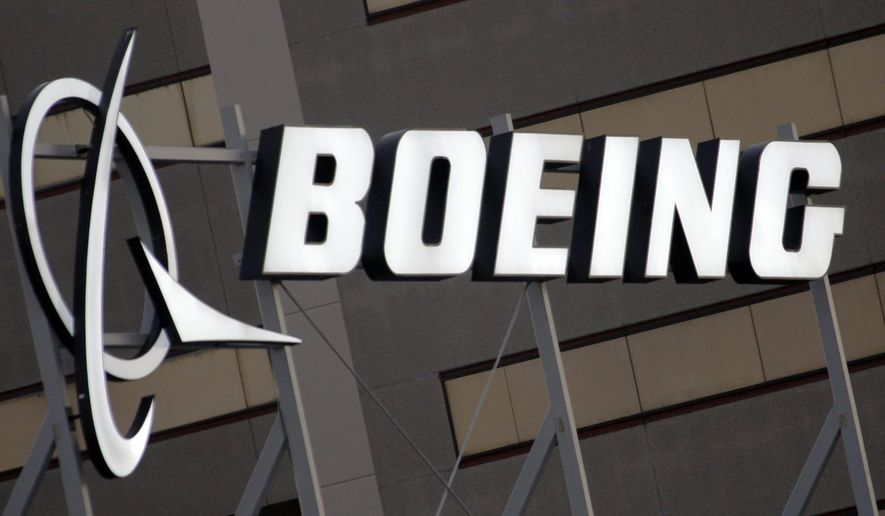 FILE - In this Jan. 25, 2011 file photo, the Boeing Company logo on the property in El Segundo, Calif. Boeing Co. A World Trade Organization panel on Monday, Nov. 28, 2016 ruled that Washington state offered billions in illegal tax breaks to plane maker Boeing, saying that the U.S. government must take action to end the plans within months. (AP Photo/Reed Saxon, File)