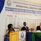 Evelyn Manda addresses the ILC in Lusaka, Zambia in November 2016.