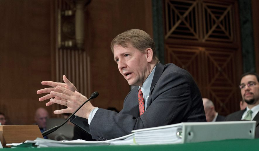Consumer Financial Protection Bureau Director Richard Cordray. (Associated Press) ** FILE **