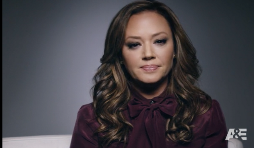 """Actress Leah Remini, shown in a screen capture from a video on the website for her new A&E documentary series, """"Leah Remini: Scientology and the Aftermath,"""" which premiered Nov. 29."""