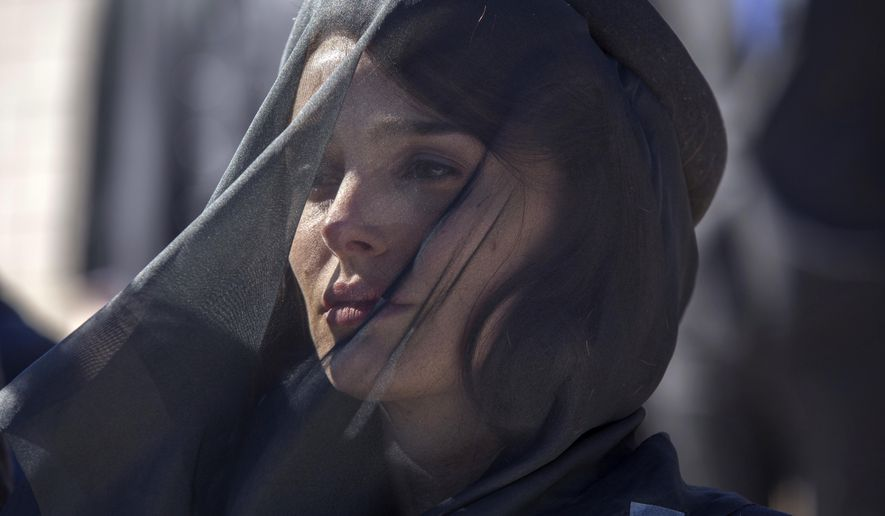 """This image released by Fox Searchlight shows Natalie Portman as Jackie Kennedy in the film, """"Jackie."""" (William Gray/Fox Searchlight via AP)"""