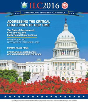 Download the Special Report prepared by The Washington Times Advocacy Department, Universal Peace Federation and The Washington Times Foundation and available in the November 30, 2016, edition of The Washington Times. (2.6 MB)