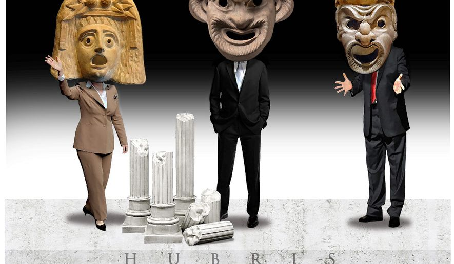 Illustration on the unintended consequences of Obama's presidency by Alexander Hunter/The Washington Times