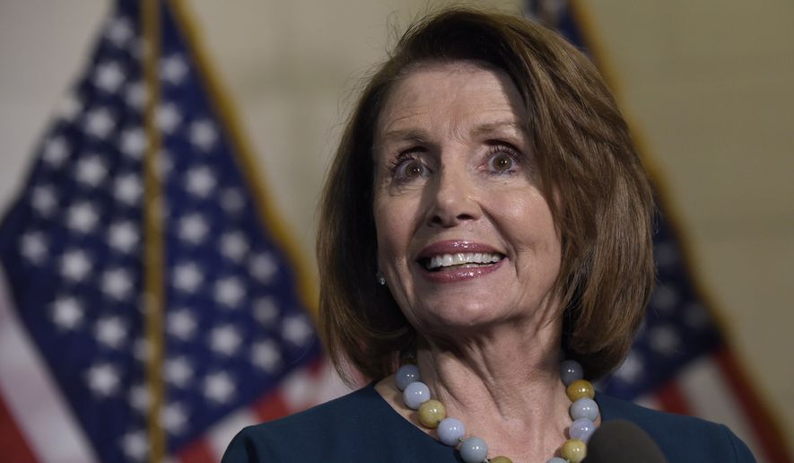 House Minority Leader Nancy Pelosi of Calif., speaks to reporters following the House Democratic Caucus elections on Capitol Hill in Washington, Wednesday, Nov. 30, 2016, for House leadership positions. Rep. Tim Ryan, D-Ohio, challenged Pelosi, but lost, 134-63. (AP Photo/Susan Walsh)