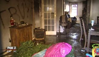 A Navy veteran's home was torched and tagged with anti-Donald Trump graffiti in Plant City, Florida this week. (FOX 13)